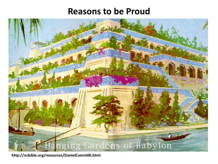 Reasons to be Proud