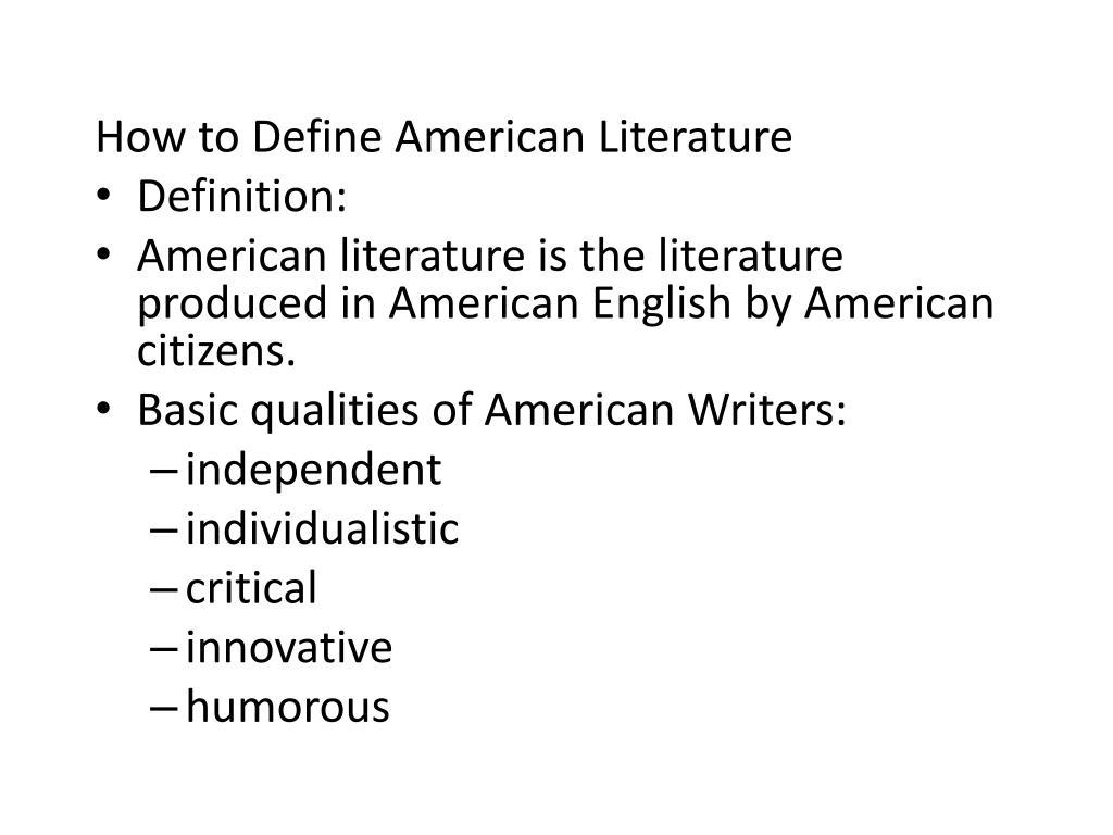 american writers in english literature