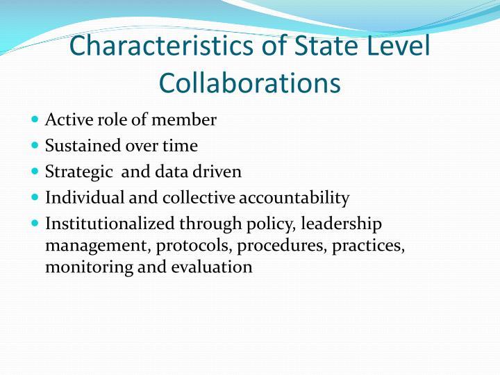 Characteristics of State Level