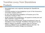 transition away from standalone products