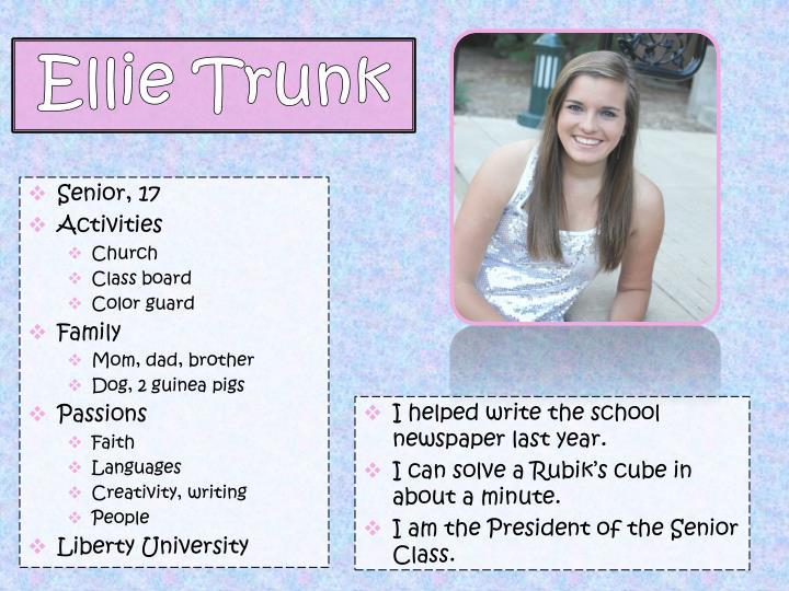 Ellie trunk