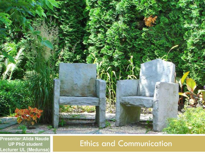 ethics and communication n.