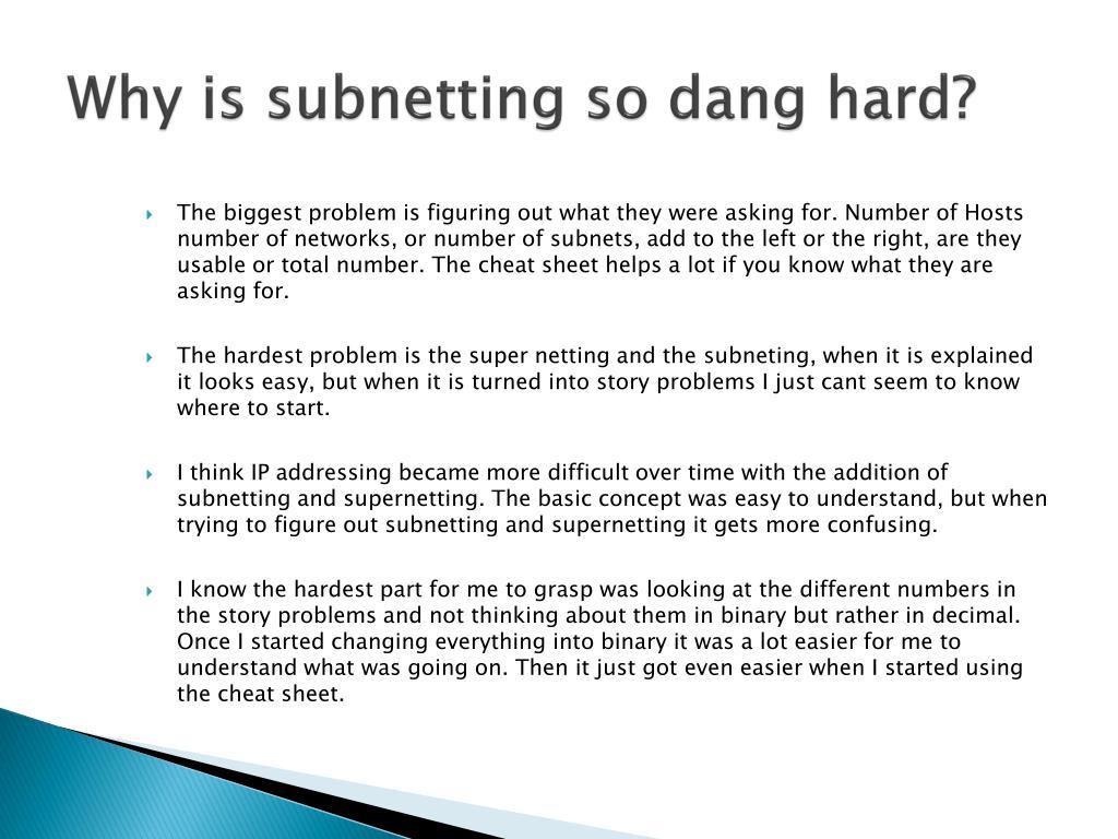 PPT - Teaching IP Subnetting PowerPoint Presentation - ID