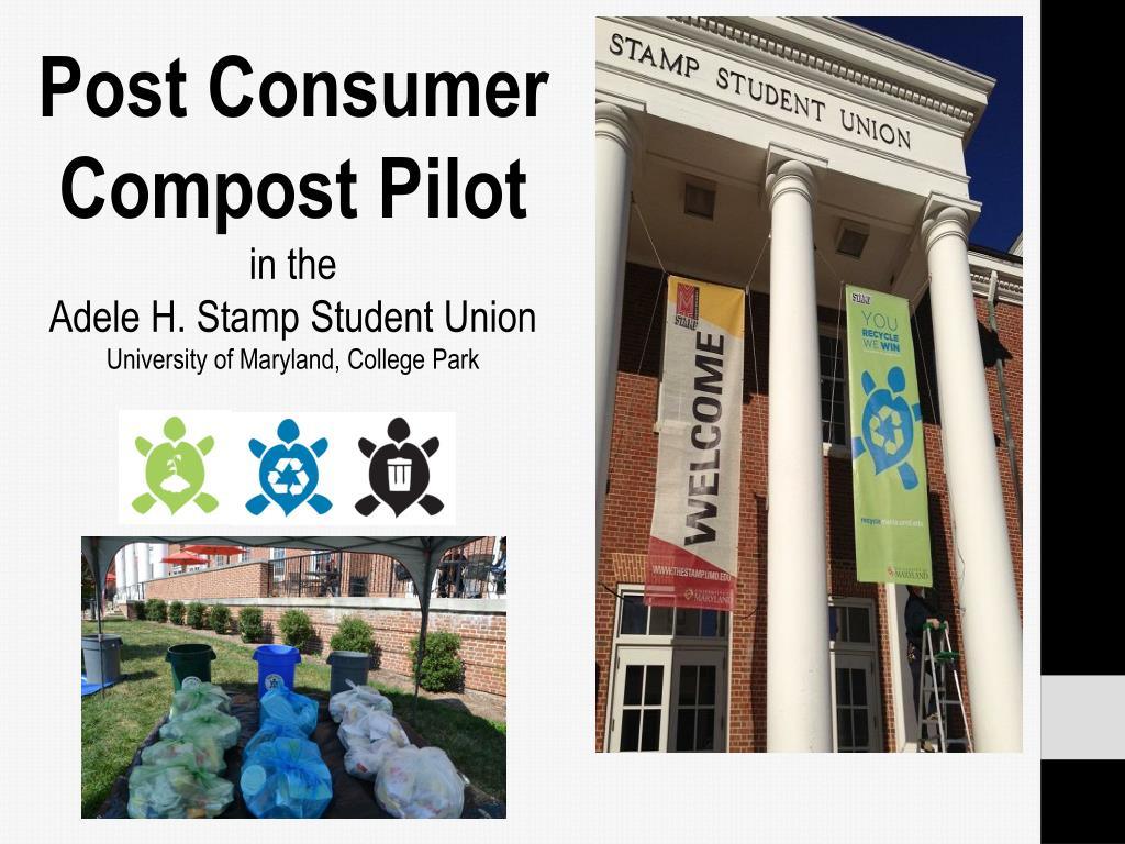 Post Consumer Compost Pilot In The Adele H Stamp Student Union