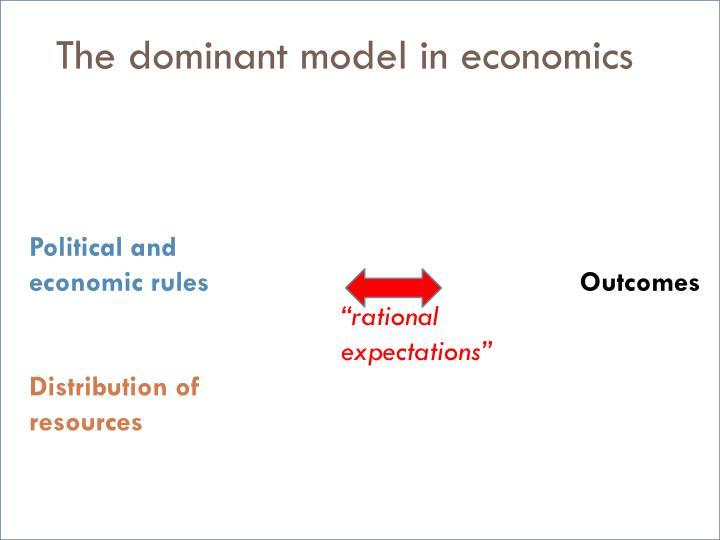 The dominant model in economics