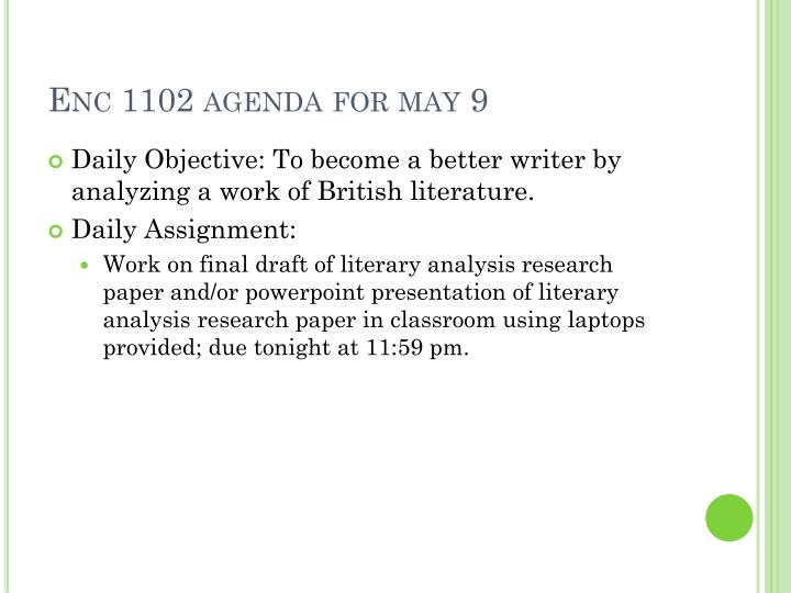 Enc 1102 agenda for may 9
