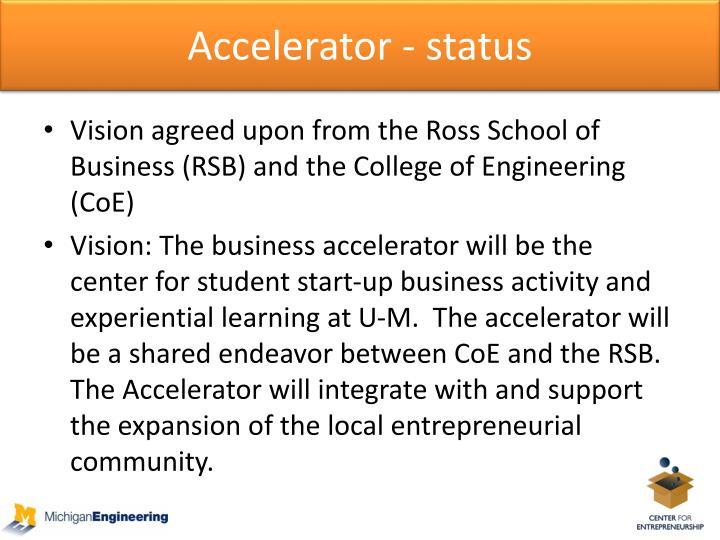 Accelerator - status