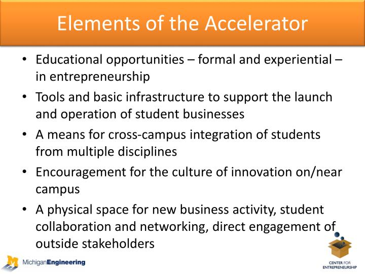 Elements of the Accelerator