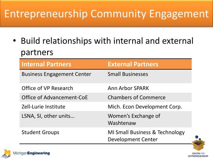 Entrepreneurship Community Engagement