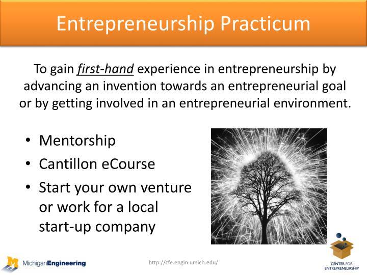 Entrepreneurship Practicum