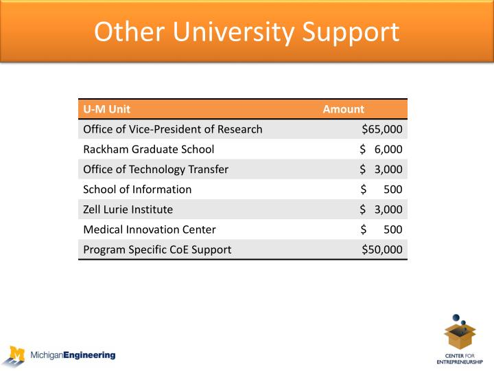 Other University Support
