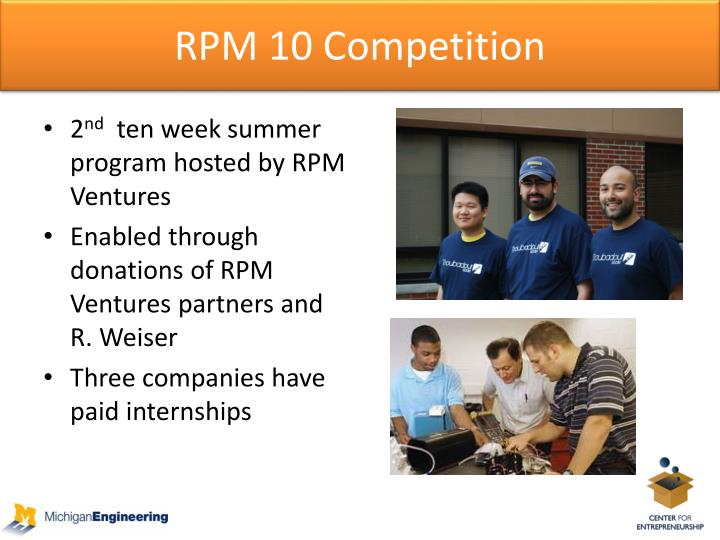 RPM 10 Competition