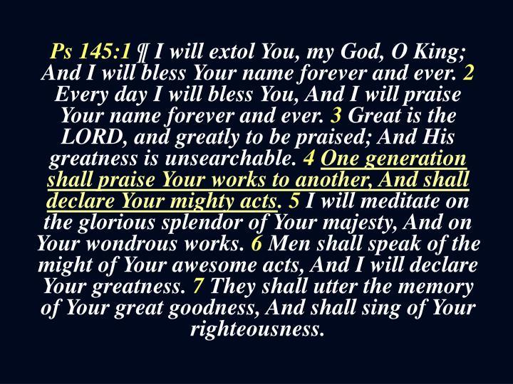 Ps 145:1