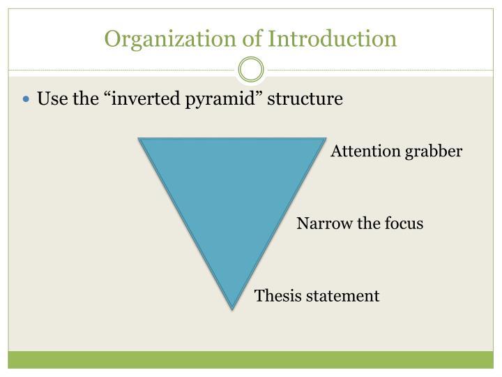 Organization of introduction