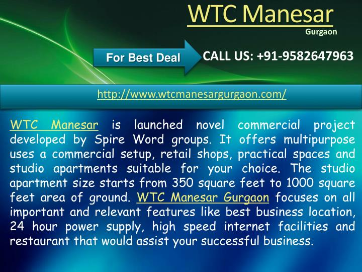 Wtc manesar1