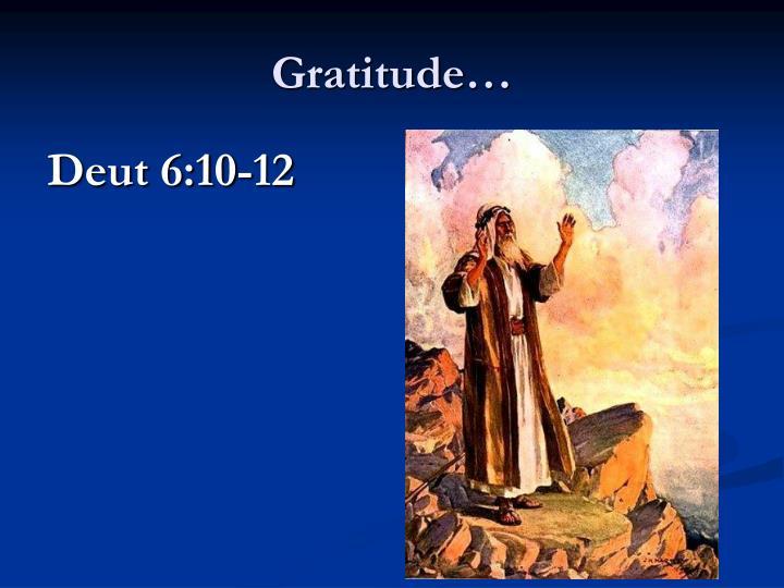 Gratitude…
