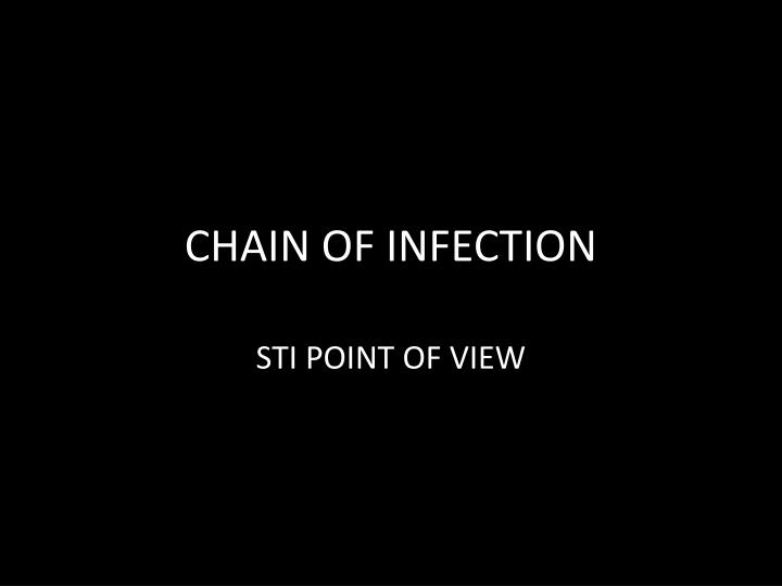 chain of infection n.