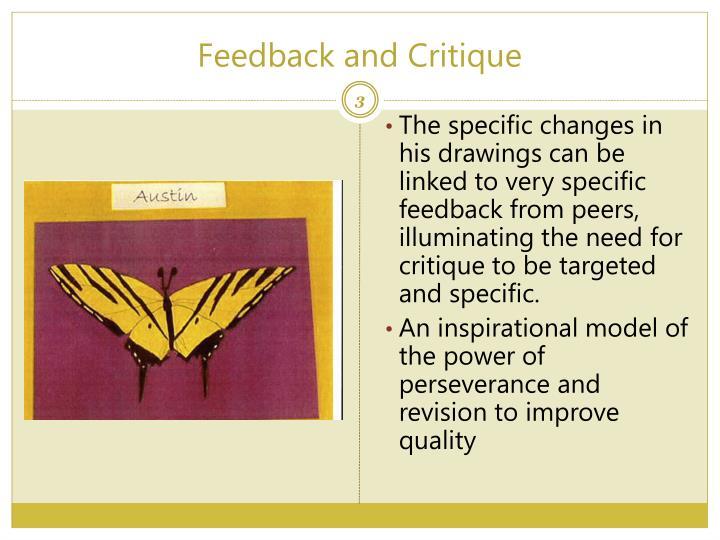 Feedback and critique