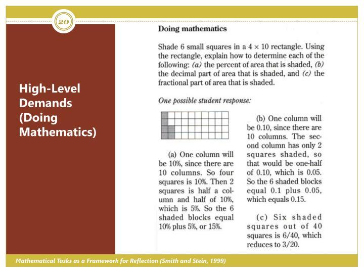 High-Level Demands (Doing Mathematics)