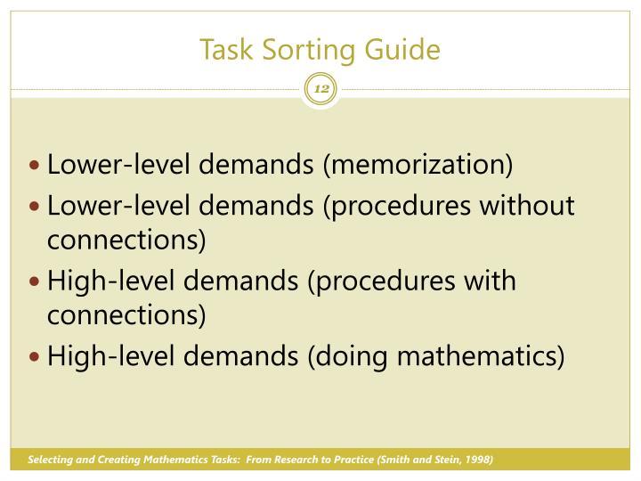 Task Sorting Guide