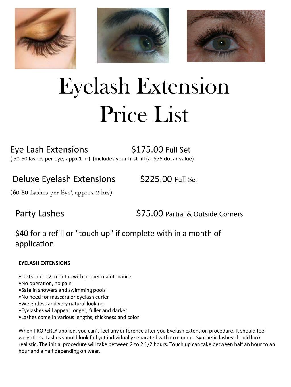 Ppt Eyelash Extension Price List Powerpoint Presentation Id2158145