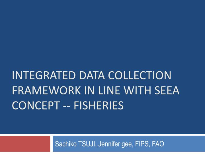 integrated data collection framework in line with seea concept fisheries n.