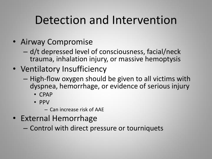 Detection and Intervention