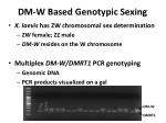 dm w based genotypic sexing