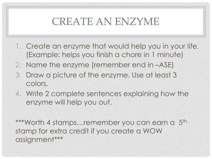 Create an Enzyme