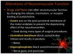 alterations of neuromuscular function