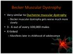 becker muscular dystrophy