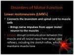 disorders of motor function1