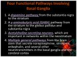four functional pathways involving basal ganglia
