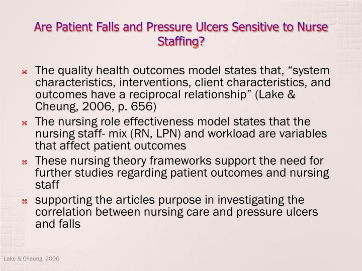nurse staffing and the quality of