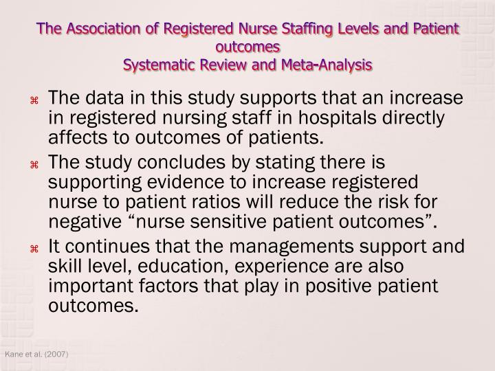 ?nurse-patient ratio essay Nurse-patient staffing ratio for decades, it has been reported that there are not sufficient nurses to provide high-quality care previous researches have shown that for each patient added to nurses, the workload increases resulting in increased mortality.