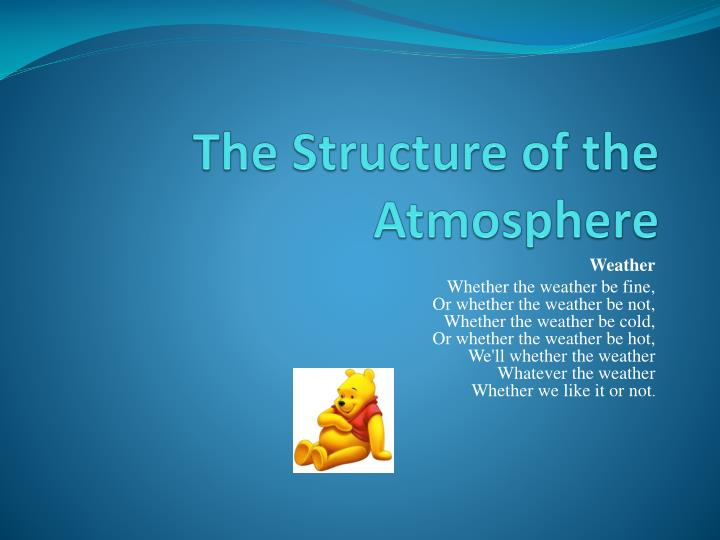 the structure of the atmosphere n.