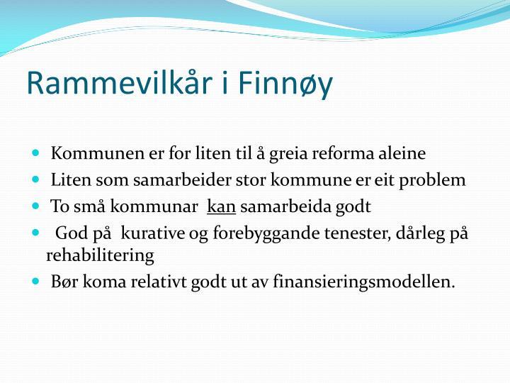 Rammevilkår i Finnøy