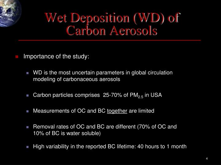 Wet Deposition (WD) of
