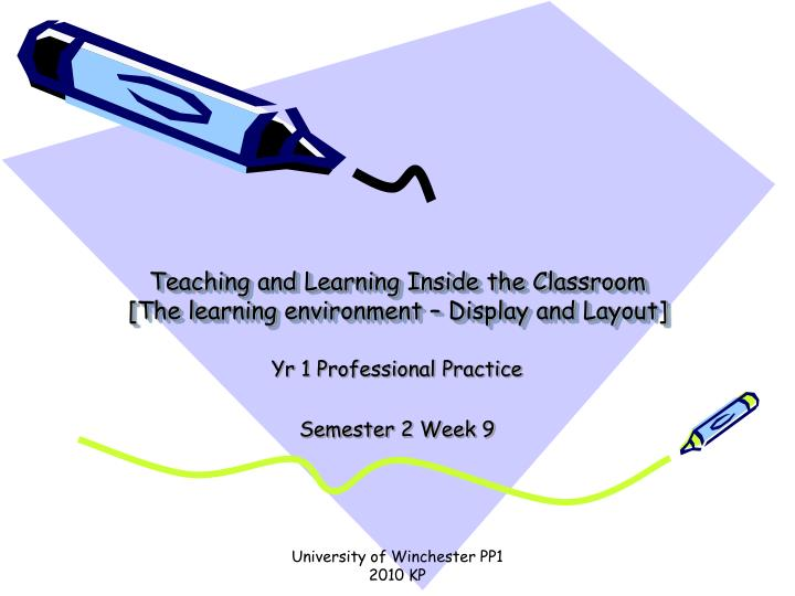 teaching and learning inside the classroom the learning environment display and layout n.