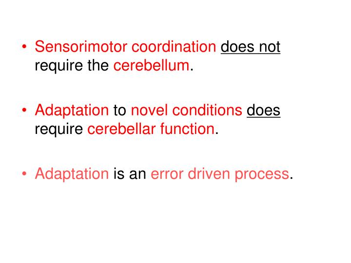 Sensorimotor coordination