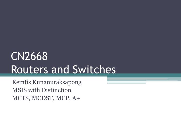 cn2668 routers and switches n.