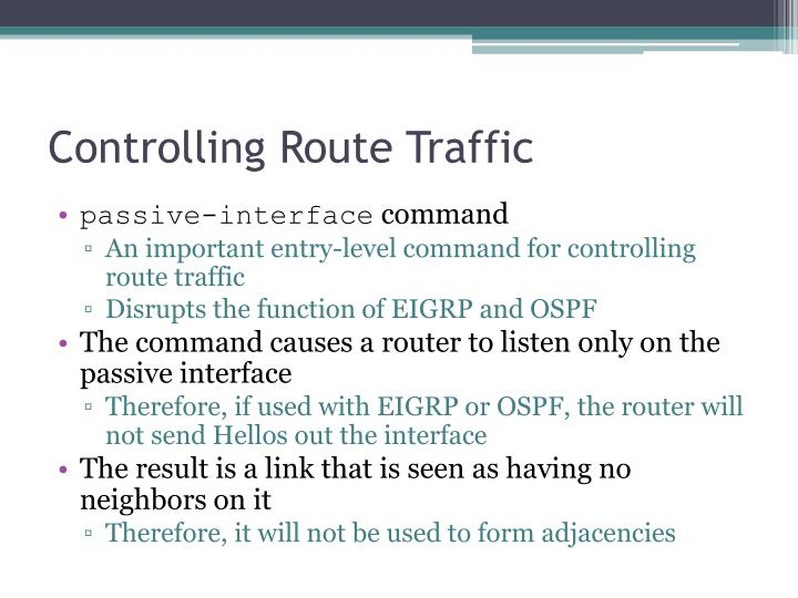 Controlling Route Traffic
