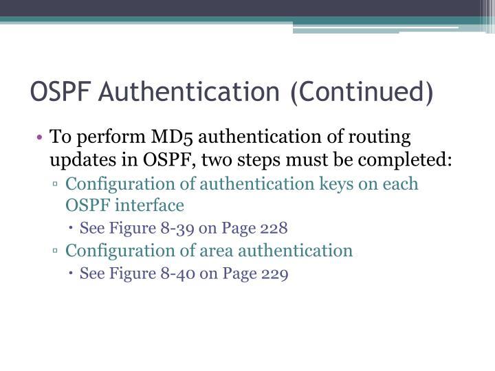 OSPF Authentication