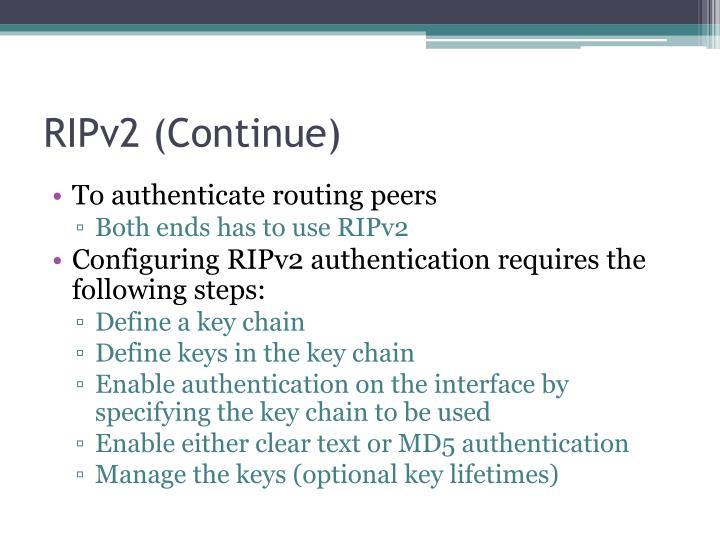 RIPv2 (Continue)