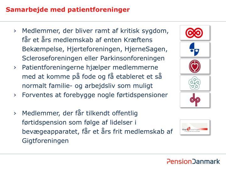 Samarbejde med patientforeninger
