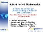 job 1 for k 5 mathematics