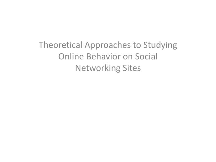 theoretical approaches to development a
