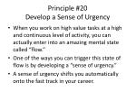 principle 20 develop a sense of urgency