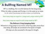 a bullfrog named mt