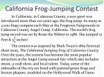 california frog jumping contest